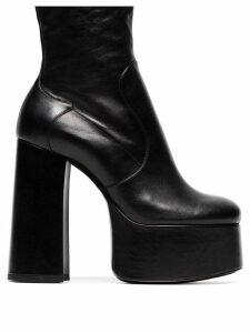 Saint Laurent platform ankle boots - Black