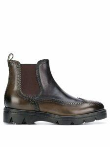 Santoni chunky sole chelsea boots - Green