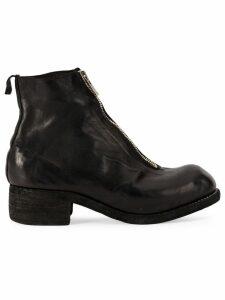 Guidi front zip biker boots - Black