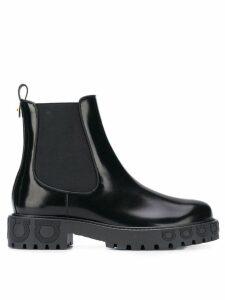 Salvatore Ferragamo Gancio ankle boots - Black