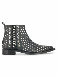 Alexander McQueen Braided Chain studded ankle boots - Black