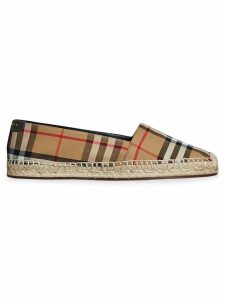 Burberry vintage check and leather espadrilles - Brown