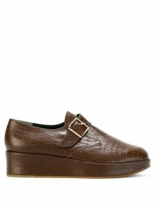 Clergerie monk strap platform loafers - Brown