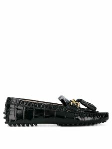 Tod's crocodile loafers - Black
