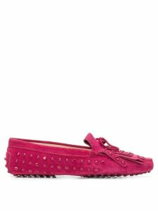 Tod's studded loafers - Pink