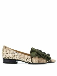 Rue St laser-cut loafers - NEUTRALS