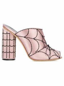 Marco De Vincenzo spider web mules - Pink