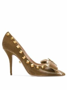 Fausto Puglisi studded pumps - Neutrals