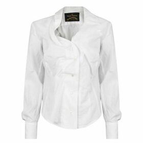 Vivienne Westwood Anglomania Ruched Long Sleeved Shirt