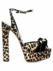 Casadei leopard print sandals - Black