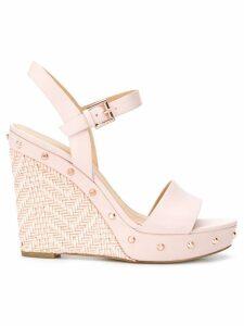Michael Michael Kors Jill studded wedge sandals - PINK