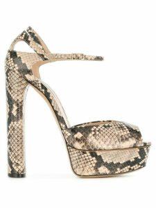 Casadei platform sandals - Neutrals
