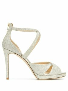 Jimmy Choo Lorina 100 sandals - Metallic