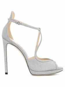 Jimmy Choo Fawne glitter sandals - Metallic