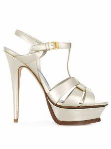 Saint Laurent Tribute 105 sandals - Neutrals
