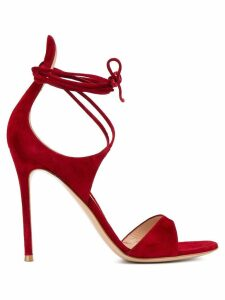 Gianvito Rossi thin ankle strap sandals - Red