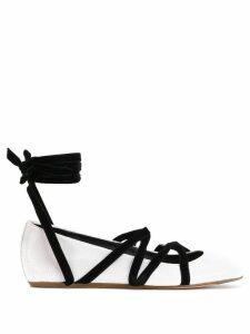 LANVIN strappy ballerina shoes - White