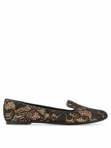 Casadei lace ballerina shoes - Metallic
