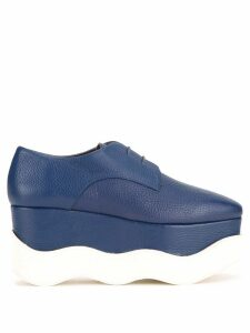Paloma Barceló platform lace-up shoes - Blue