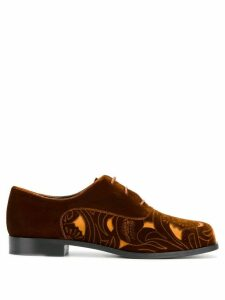 Emporio Armani cut-out panel lace-up shoes - Brown