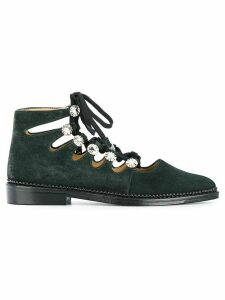Toga Pulla embellished lace-up shoes - Green