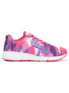 Ea7 Emporio Armani printed lace-up sneakers - PINK