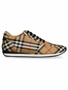Burberry Vintage Check Cotton Sneakers - Yellow