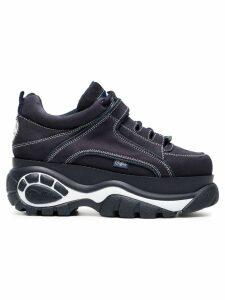 Buffalo blue 60 nubuck leather platform sneakers