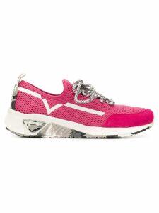 Diesel lace-up runner sneakers - Pink