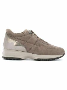 Hogan metallic heel sneakers - Brown