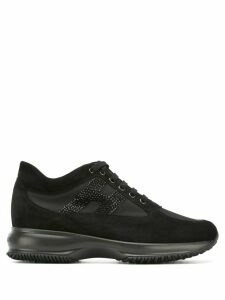 Hogan Interactive crystal logo sneakers - Black
