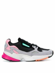 adidas colour block Falcon sneakers - Black