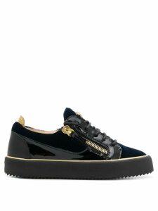 Giuseppe Zanotti Glynn velvet low sneakers - Blue
