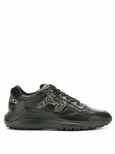 Hogan glitter embellished sneakers - Black