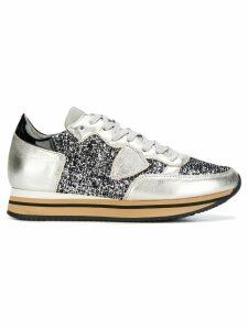 Philippe Model glitter Tropez sneakers - Grey