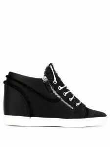 Giuseppe Zanotti contrast sole sneakers - Black