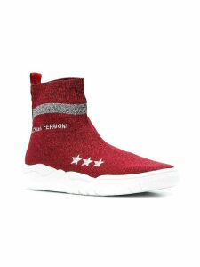 Chiara Ferragni logo sock sneakers - Red