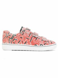 Ash touch-strap printed sneakers - Red