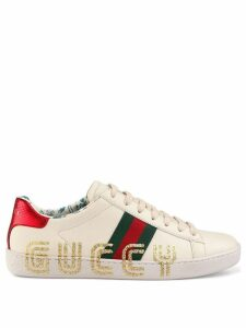 Gucci Ace sneaker with Guccy print - White