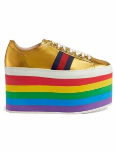 Gucci Metallic platform sneaker - Yellow