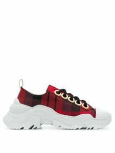 Nº21 chunky sole check sneakers - Red