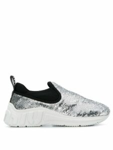 Miu Miu slip-on sequin sneakers - Metallic