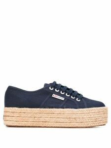 Superga platform lace-up sneakers - Blue