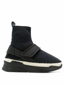 Kenzo K-lastic high-top sneakers - Black