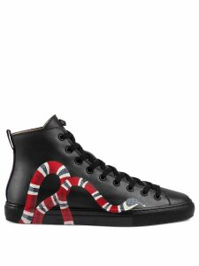 Gucci Leather high-top with snake - Black