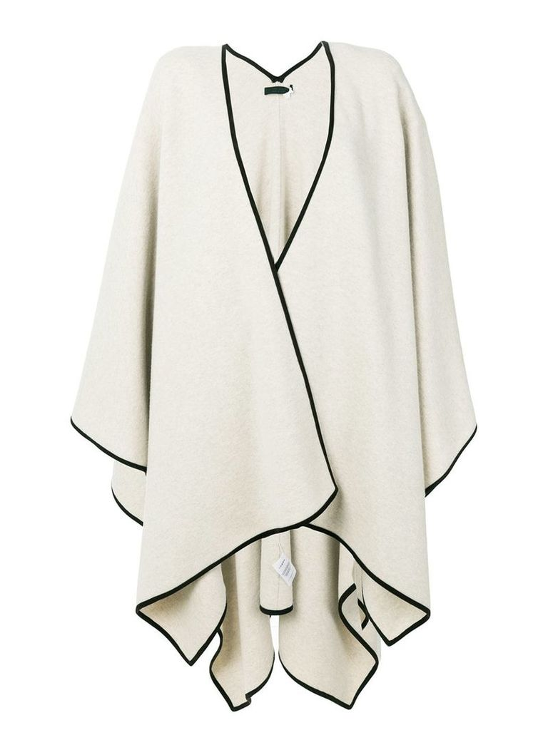 The Row oversized cape - Nude & Neutrals