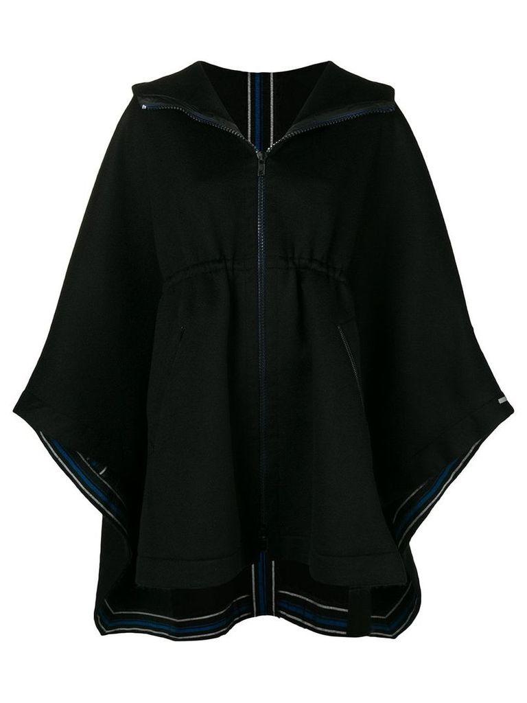 Sportmax hooded cape coat - Black