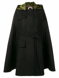 Nº21 hooded cape coat - Black