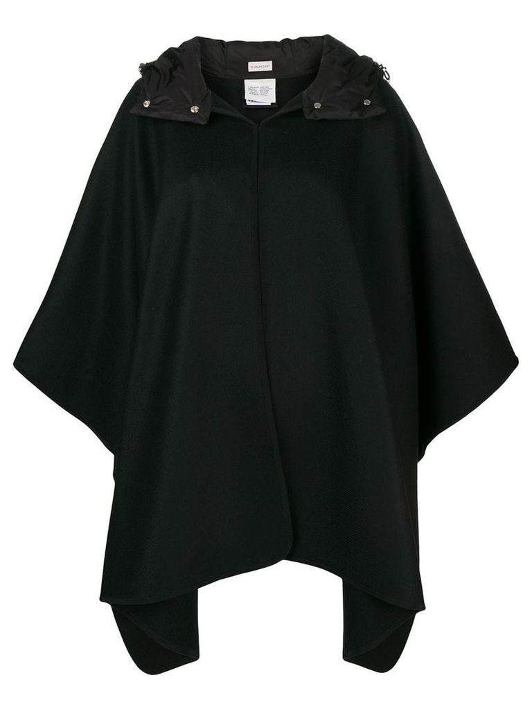 Moncler hooded cape - Black