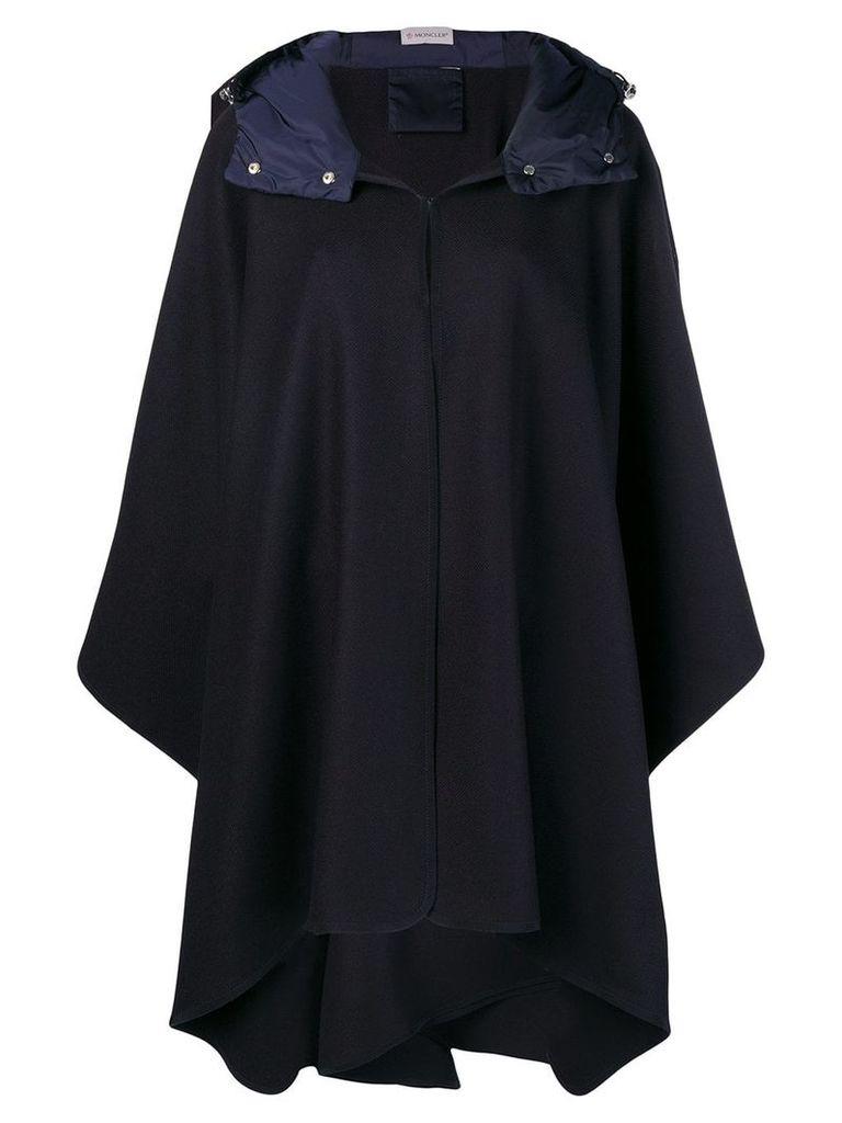 Moncler midi cape - Blue